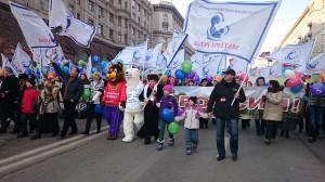 DSC 0740 300x168 ВОД Матери России приняли участие в шествии в День народного единства. 4 ноября 2014 года