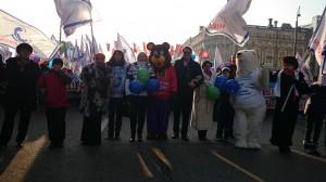 DSC 0830 300x168 ВОД Матери России приняли участие в шествии в День народного единства. 4 ноября 2014 года